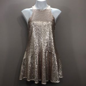 FREE PEOPLE Sequin Dress Size XS